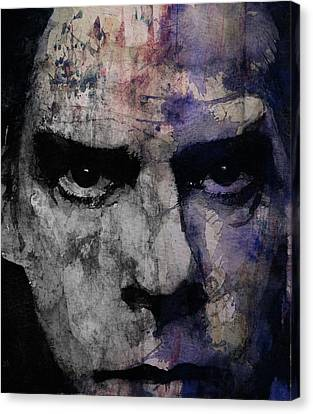Nick Cave Retro Canvas Print by Paul Lovering