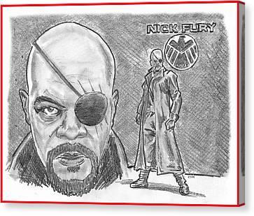 Nick Fury- Agent Of Shield Canvas Print by Chris  DelVecchio