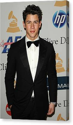 Nick Jonas In Attendance For Clive Canvas Print by Everett