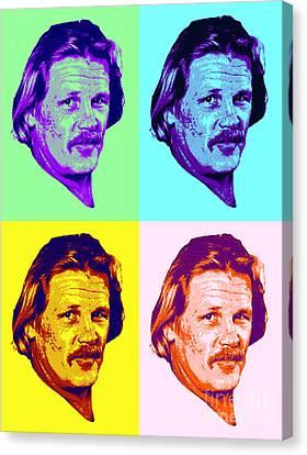Nick Nolte Colorful Pop Art Canvas Print by Pd