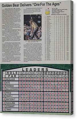 Amen Corner Canvas Print - Nicklaus 1986 Masters Victory by Marc Yench