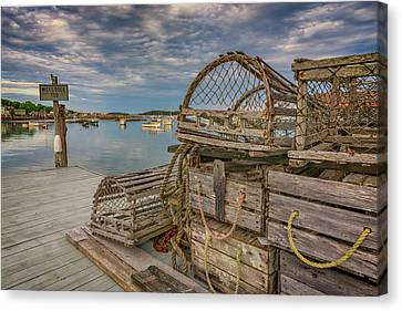 Penobscot Bay Canvas Print - Nick's Dock Too by Rick Berk
