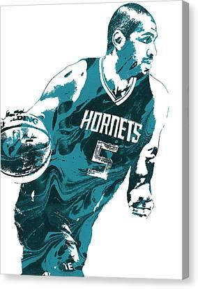 Nicolas Batum Charlotte Hornets Pixel Art 3 Canvas Print by Joe Hamilton