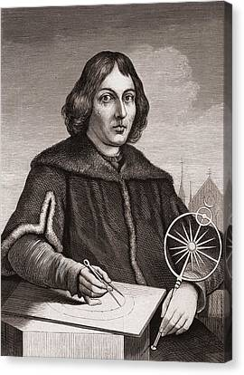 Nicolaus Copernicus Canvas Print by American School
