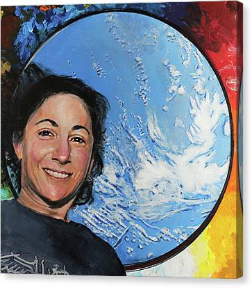 Nicole Stott Canvas Print by Simon Kregar