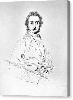 Nicolo Paganini (1782-1840) Canvas Print by Granger