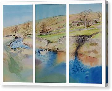 Nidderdale Triptych Canvas Print by Matthew Phinn