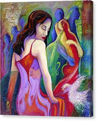 Nidia Canvas Print by Claudia Fuenzalida Johns
