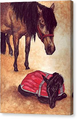 Nifty And Hannah Canvas Print by Kristen Wesch