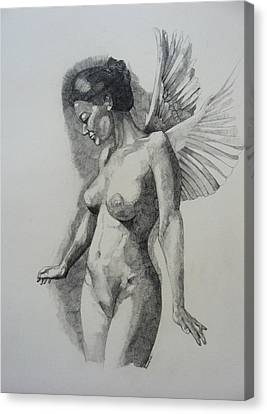 Night Angel Canvas Print by Ray Agius
