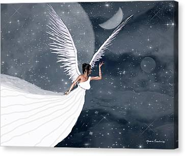 Night Angel Canvas Print by Rosalie Scanlon
