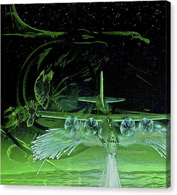 Night Angels Canvas Print by Todd Krasovetz