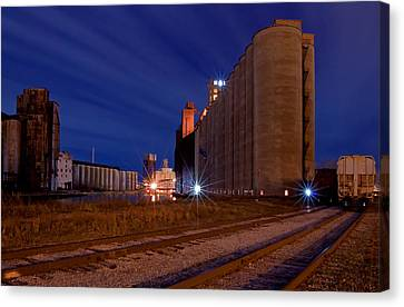 Night At Elevator Alley Canvas Print by Don Nieman