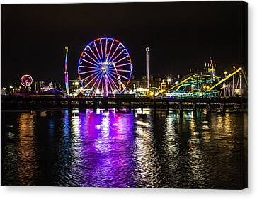 Night At The Carnival Canvas Print