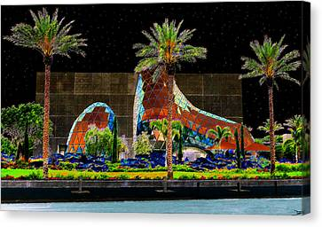Night At The Dali Museum Canvas Print