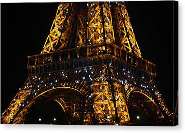 Night At The Eiffel Canvas Print by Susie Weaver