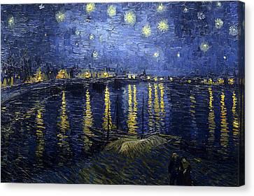 Night At The Lake Canvas Print by Sumit Mehndiratta
