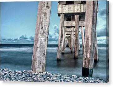 Night At The Pier Canvas Print