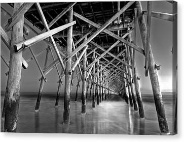 Night At The Pier  Canvas Print by Drew Castelhano
