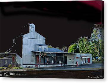 Night At The Ringtown Feed Mill Canvas Print by Doug Schiefer