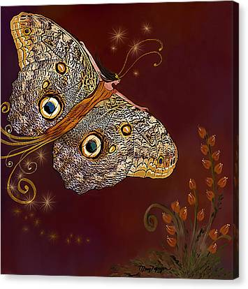 Night Butterfly  Canvas Print by Thanh Thuy Nguyen