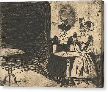 Night Cafe Canvas Print