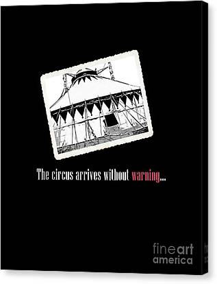 Night Circus Tee Black Canvas Print by Edward Fielding