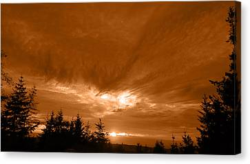 Night Clouds II Canvas Print