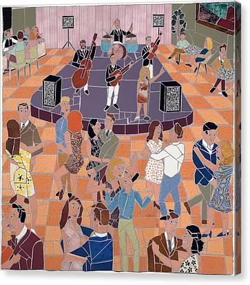 Night Club Canvas Print