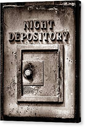 Night Depository Canvas Print