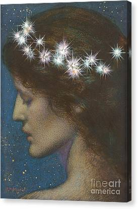 Profile Canvas Print - Night by Edward Robert Hughes
