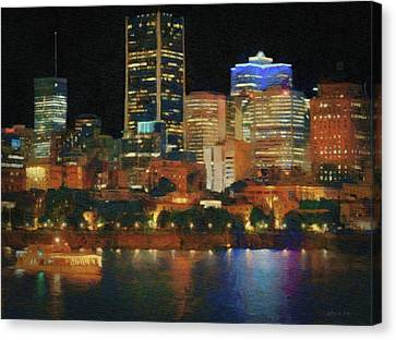 Night Excursion In Montreal Canvas Print