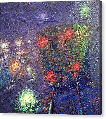 Night Express. 2010 Canvas Print by Ivan KRUTOYAROV