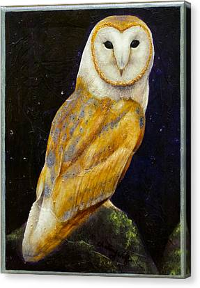 Night Eyes Canvas Print by Kevin Chasing Wolf Hutchins