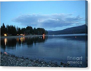 Canvas Print featuring the photograph Night Fall by Victor K