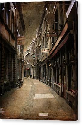 Canvas Print featuring the digital art Night Falls by Margaret Hormann Bfa