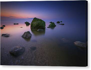 Night Falls On Long Island Sound Canvas Print by Rick Berk