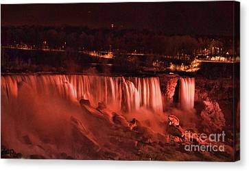 Canvas Print featuring the photograph Night Falls by Traci Cottingham