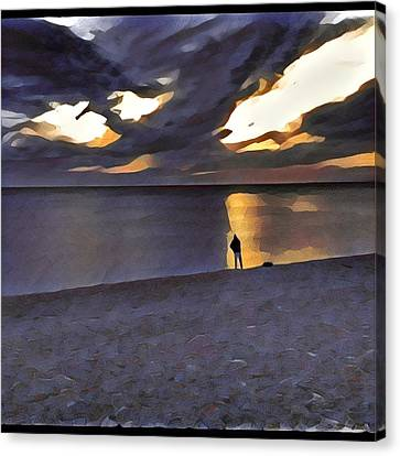 Night Fisher Canvas Print
