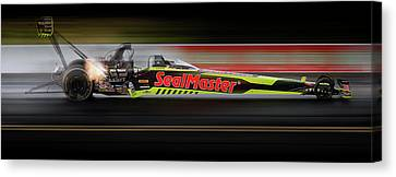 Jr Motorsports Canvas Print - Night Flight by Peter Chilelli