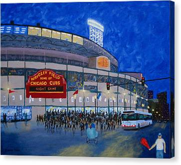 Night Game Canvas Print by J Loren Reedy