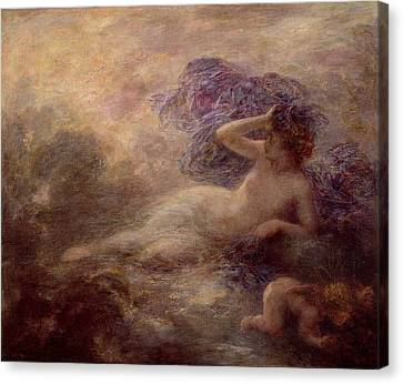 Night Canvas Print by Ignace Henri Jean Fantin Latour