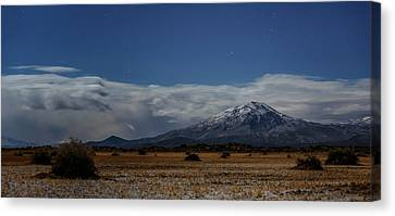 Canvas Print featuring the photograph Night In The Alvord Desert by Cat Connor
