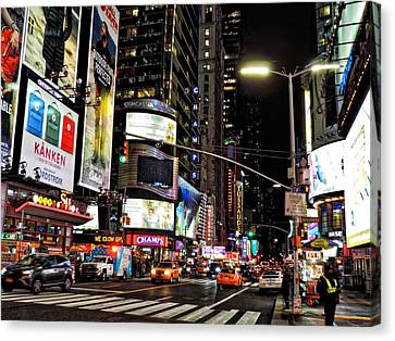 Night In The Big City Canvas Print