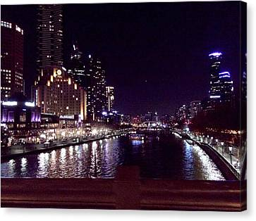Night In The City Canvas Print by Chi Nguyen