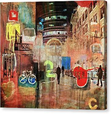 Canvas Print featuring the photograph Night In The City by Susan Stone