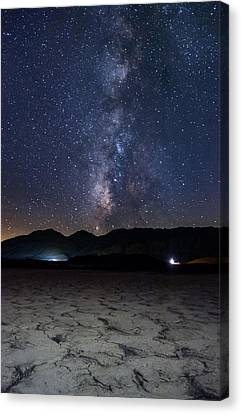 Dry Lake Canvas Print - Night In The Desert by Cat Connor