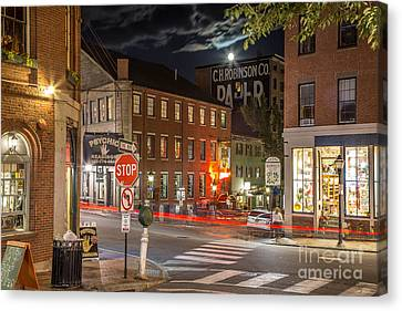 Night In The Old Port Canvas Print