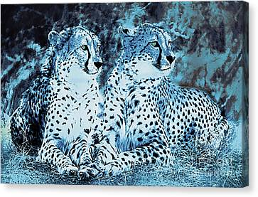 Feline Canvas Print - Night In The Serengeti by KaFra Art