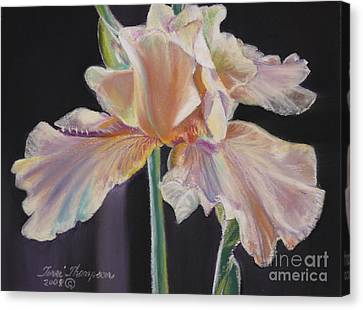 Canvas Print featuring the pastel Night Iris by Terri Thompson